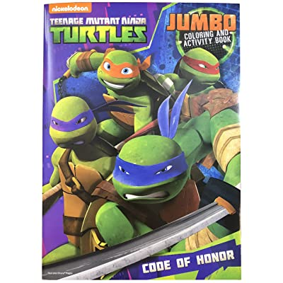 Teenage Mutant Ninja Turtles Jumbo Coloring and Activity Book 96-Page (1 Book) Assorted Action Themes: Toys & Games