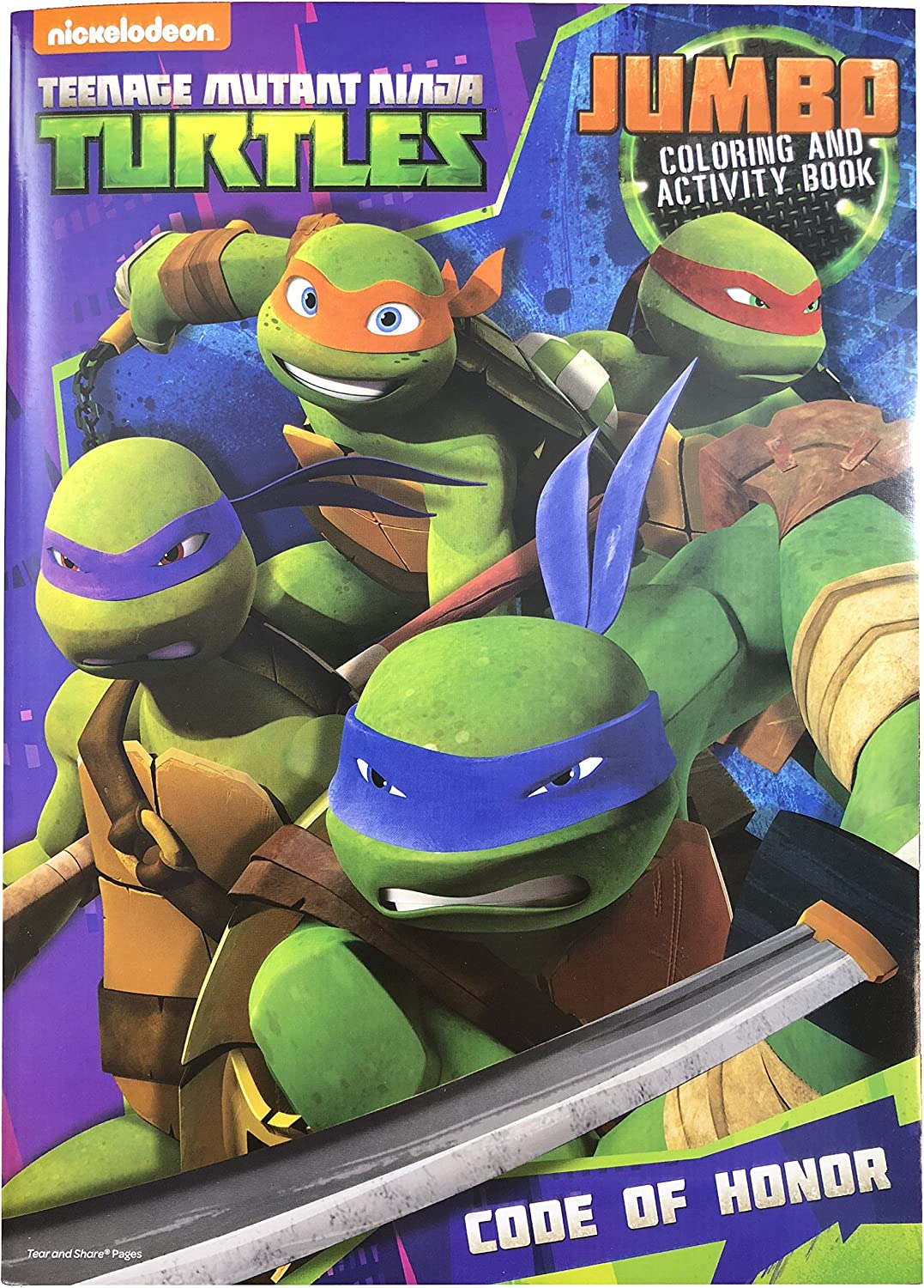 Teenage Mutant Ninja Turtles Jumbo Coloring and Activity Book 96-Page (1 Book) Assorted Action Themes