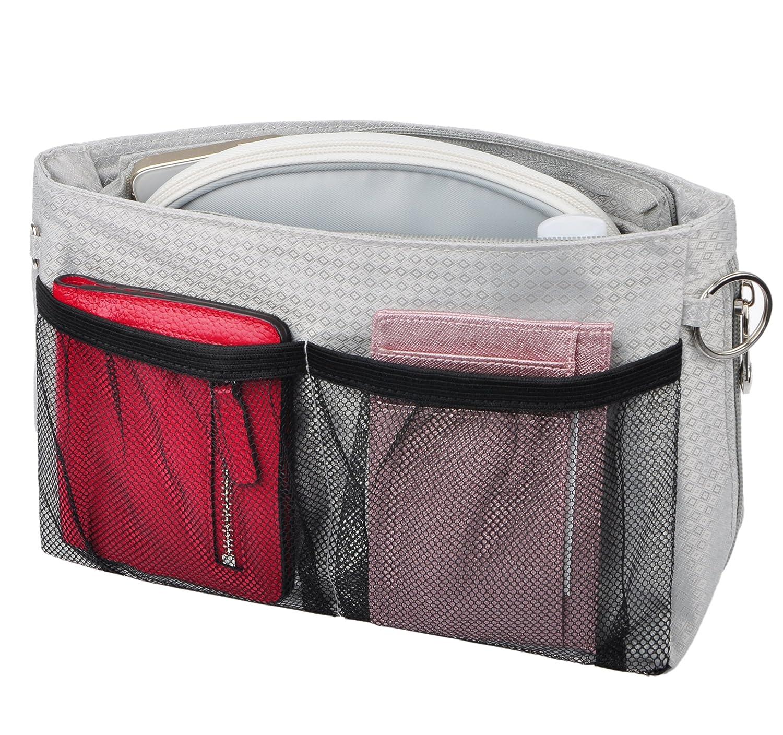 Vercord Expandable Nylon Handbag Purse Organizer Insert Shaper Bag In Bag 3 Size SWSNB-054