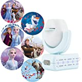 Projectables Frozen 2 LED Night Light, 6-Image, Plug-in, Dusk-to-Dawn, UL-Listed, Scenes of Elsa, Anna, and Olaf on Ceiling,