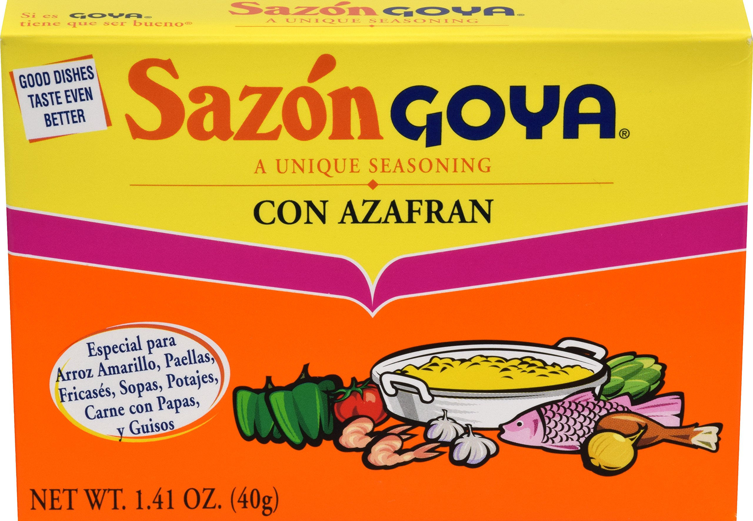 Goya Foods Sazon Azafran Seasoning, 1.41-Ounce