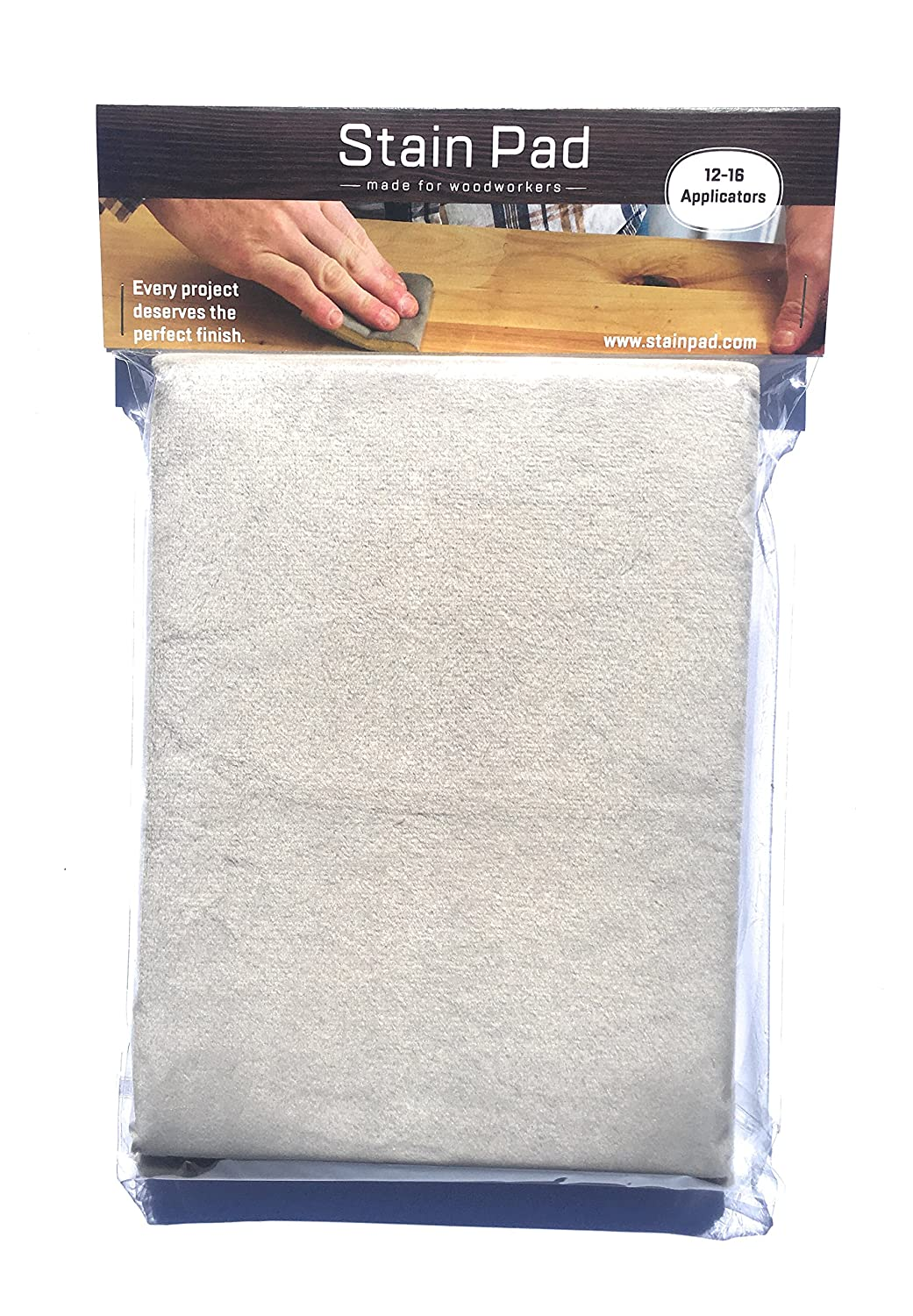 Stain Pad, Cut-To-Size Stain Applicator Pad (2 Pads = 12-16 Applicators)