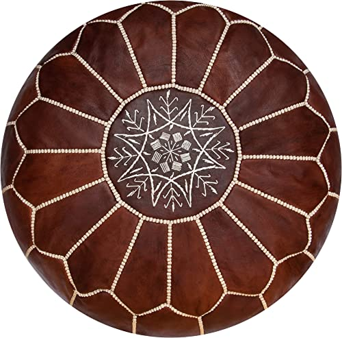 Premium Moroccan Leather Pouf