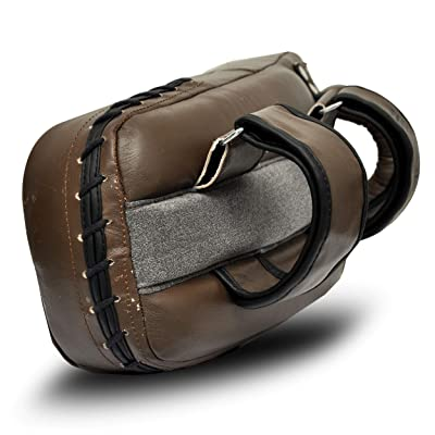 Brown Vintage Leather Thai Pad MMA Muay Thai Boxing Training