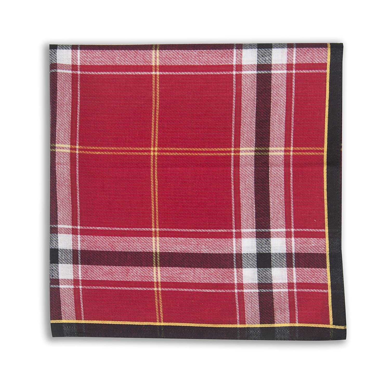 Selected Hanky 100/% Cotton Mens Handkerchiefs 6 Piece Gift Set
