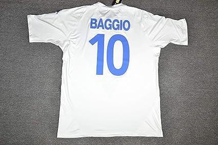 3f18ca8472d Retro Baggio#10 Brescia Away Soccer Jersey Full Calcio Patch (White, S)