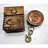 Brass Nautical Brass Pocket Compass in Gift Case