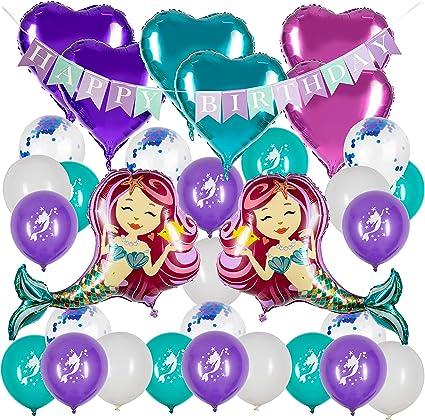 Amazon.com: Mermaid Party Supplies – Decoración de sirena ...