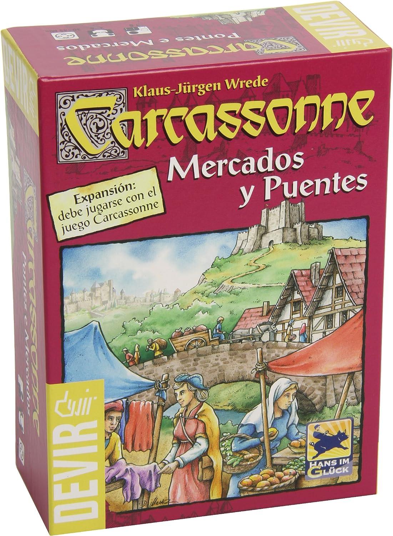 Devir- Carcassonne Mercados y Puentes (BGCAMPU): Amazon.es: Juguetes y juegos
