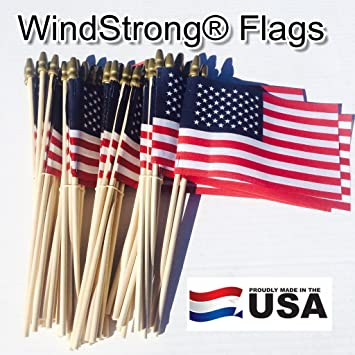 Amazon lot of 50 4x6 inch us american hand held stick flags lot of 50 4x6 inch us american hand held stick flags spear top windstrong publicscrutiny Choice Image