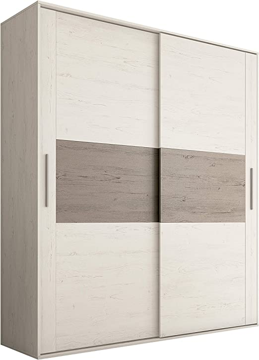 HomeSouth - Armario 2 Puertas Correderas para Dormitorio y ...