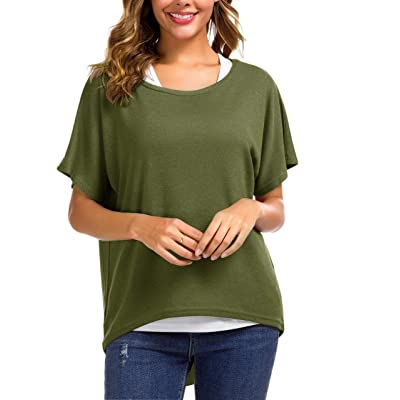 UGET Women's Sweater Casual Oversized Baggy Loose Fitting Shirts Batwing Sleeve Pullover Tops at Women's Clothing store