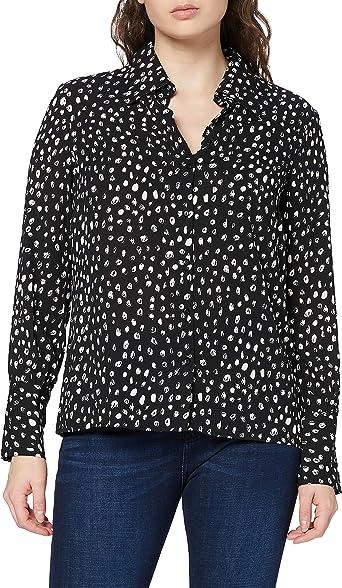 Marca Amazon - find. Camisa con Cuello Alado Mujer