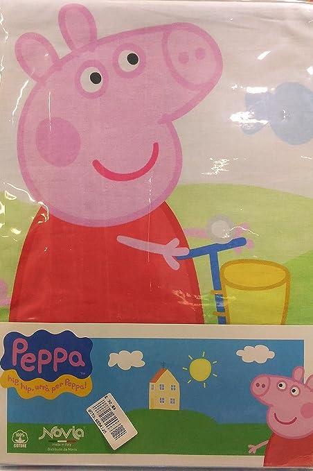 Lenzuola Di Peppa Pig.Lenzuola Lettino Peppa Pig Amazon It Casa E Cucina