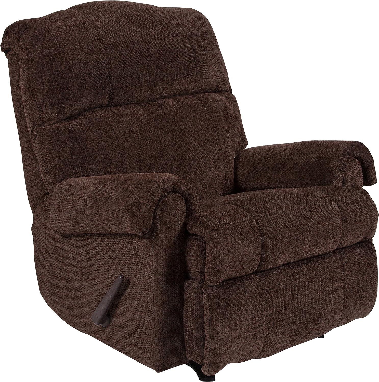 Flash Furniture Contemporary Kelly Chocolate Super Soft Microfiber Rocker Recliner
