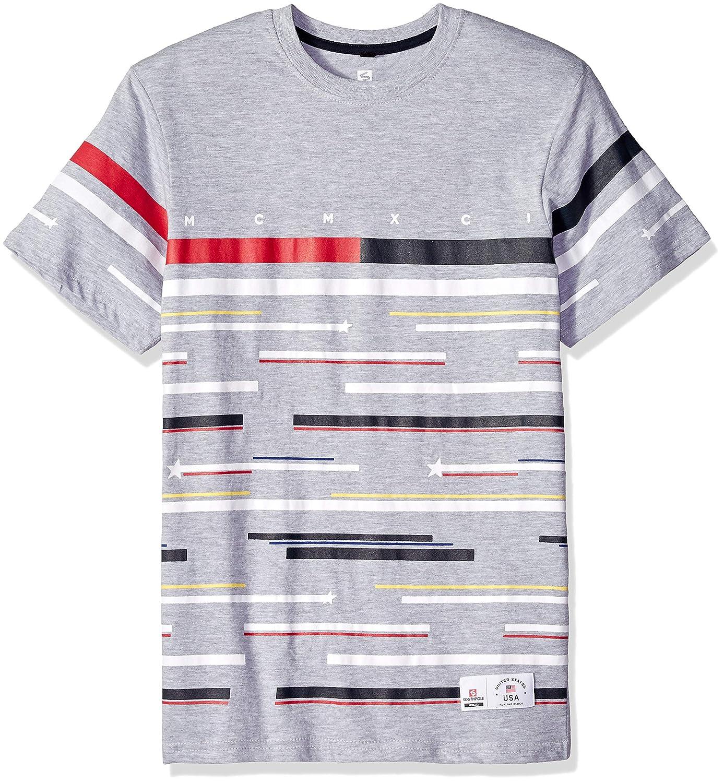 Southpole Mens Standard Colorblock Short Sleeve Fashion Tee