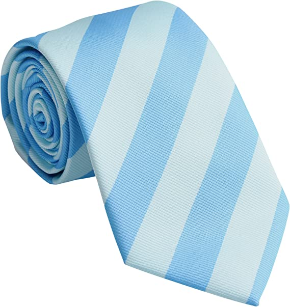 Streeze Corbatas de Rayas Sencillas para Hombres - Azul Celeste/Aguamarina: Amazon.es: Ropa y accesorios