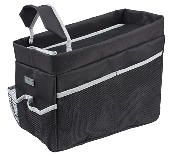 Rückbank Organizer Rücksitztasche Spielzeugtasche Blueline schwarz-blau-hellgrau