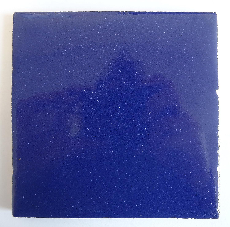 Carrelage en céramique mexicaine - 10, 5 cm - fait à la main et éthiquement négocié par Tumia LAC – Lot de 10 5 cm - fait à la main et éthiquement négocié par Tumia LAC - Lot de 10
