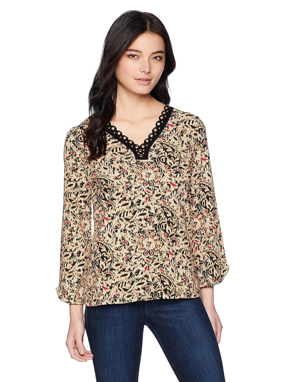 Rafaella Womens Petite Cotton Novelty Knit