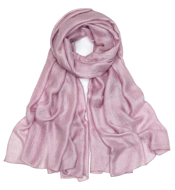 Superora Bufanda para Mujer de Lino Sedosa Mantón Fular Chal Manta Pañuelo Color Puro 185 * 100cm