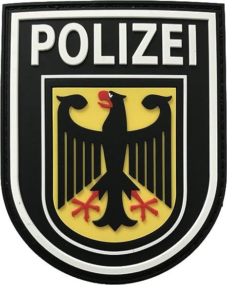JTG Parche de goma para la manga, diseño de policía federal alemana, 3D a todo color: Amazon.es: Deportes y aire libre