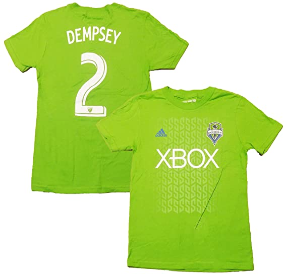 sneakers for cheap bc9d3 8ef0b Clint Dempsey Seattle Sounders FC #2 Green Youth Name and Number T Shirt