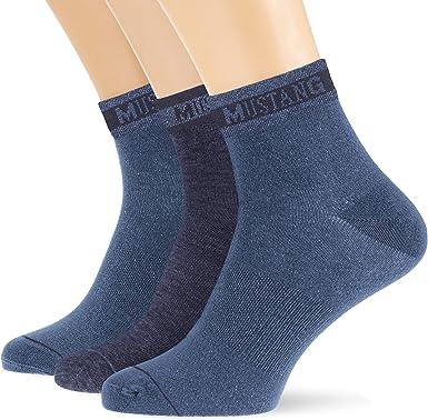 Mustang Socks Calcetines, (Pack de 3) para Hombre: Amazon.es: Ropa ...