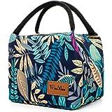 WinMax クーラーバッグ 保冷バッグ ランチバッグ 保冷 バック ランチバック ランチ バッグ 弁当 袋 お弁当袋 防水 花柄 (5.2Lブルー)