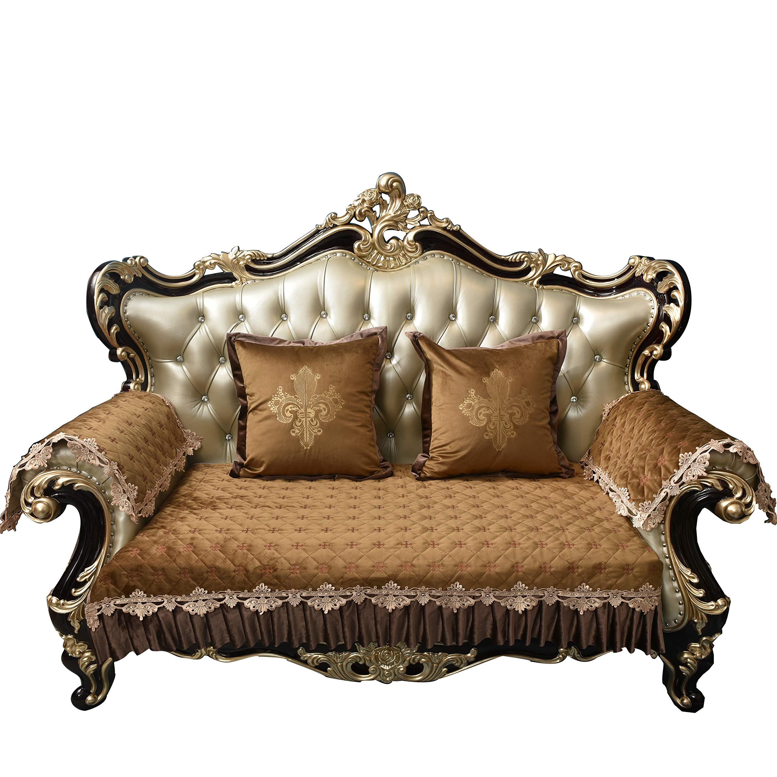 Sideli Luxury Velvet Jacquard Sofa Slipcover Anti-Slip Sectional Furniture  Protector Petproof(31Wx82L- 31cca8aaf0