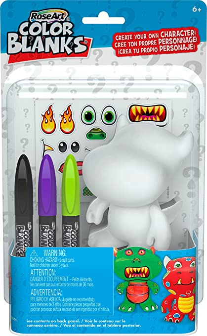 Amazon.com: RoseArt Color Blanks Singles Monster Juguete ...