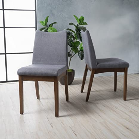 Brilliant Christopher Knight Home 300022 Dimitri Dining Chairs Set Of 2 Dark Gray Onthecornerstone Fun Painted Chair Ideas Images Onthecornerstoneorg