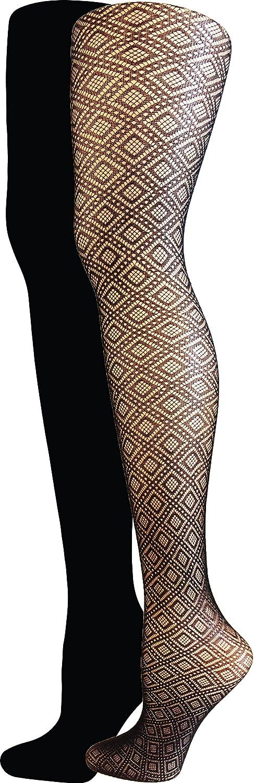 778a2dea0f5 Isaac Mizrahi New York Women s Diamond Textured Tights (2-Pack ...
