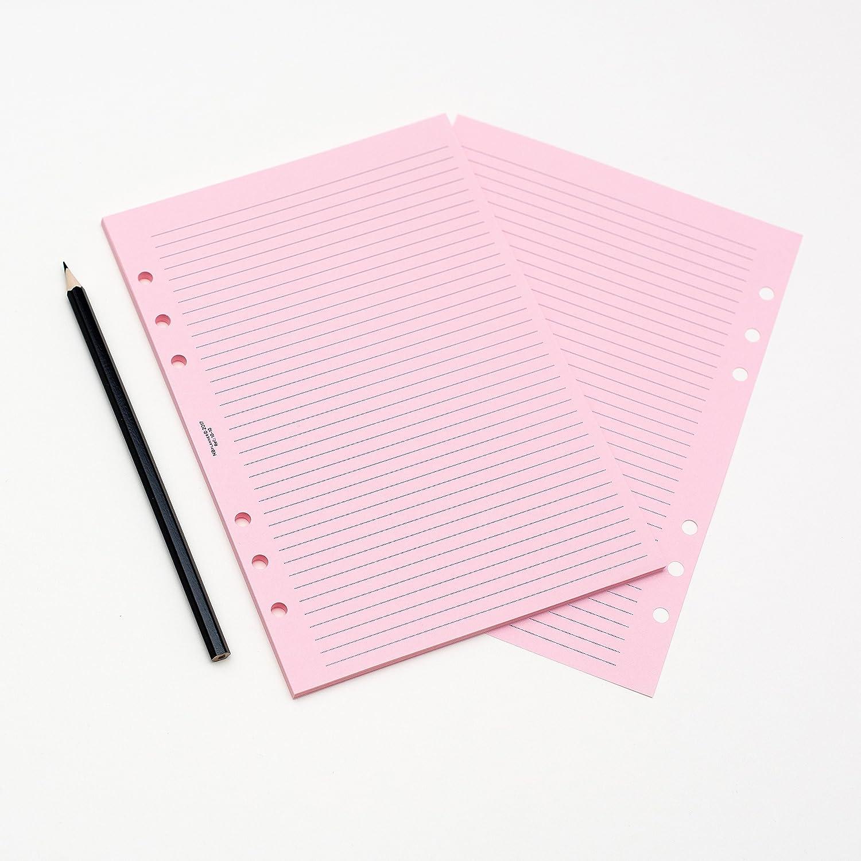 NBplanner A5 White Narrow Ruled notepaper Organiser Refill Insert