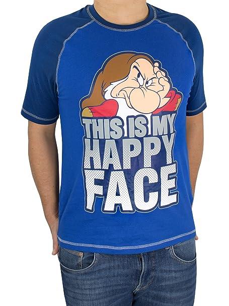 Disney Gruñón - Camiseta para hombre Grumpy - Talla Small