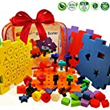 Shape Sorter Pegboard Stacking Toy - Girls or Boys Learning Toys for 1 year old to 2 3 4 year olds | SKOOLZY Toddler 7 in 1 Activity Peg Board Set | Preschool Color Sorting Fine Motor Development