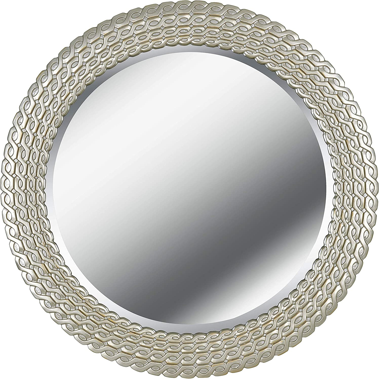 Kenroy Home 61016 Bracelet Wall Mirror 35 Inch Diameter Brushed Silver And Gold Home Kitchen
