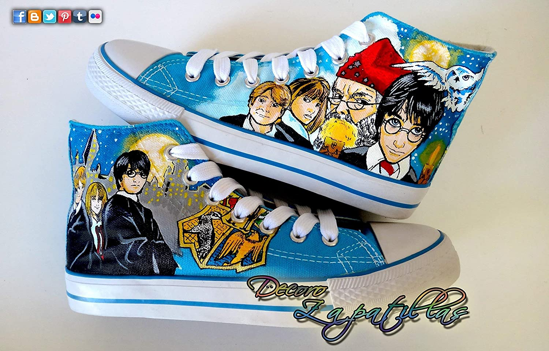 Zapatillas customizadas personalizados lona Harry Potter