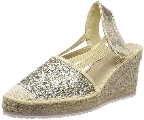 Marco Tozzi 29610, Alpargata para Mujer, Plateado (Platinum Comb), 41 EU: Amazon.es: Zapatos y complementos
