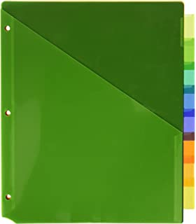 avery big tab insertable two pocket plastic dividers 8 multicolor tabs case pack