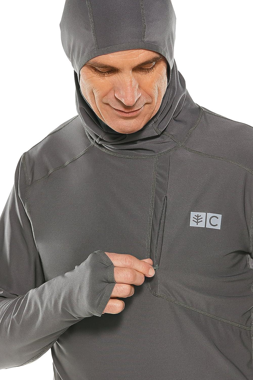 Coolibar UV-Schutz 50+ Herren Andros Fishing Hoodie – Sonnenschutz Smoke Grey