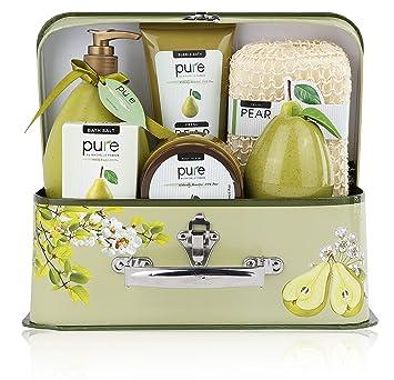 Amazon.com : Essence of Luxury Spa Gift Basket Bath Set! Pure Pear ...