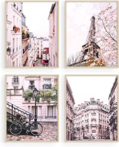 Pink Paris Wall Decor - by Haus and Hues | Paris Wall Art and Paris Decor for Bedroom | Paris Decor for Bedroom for Girls | Paris Bathroom Decor (8