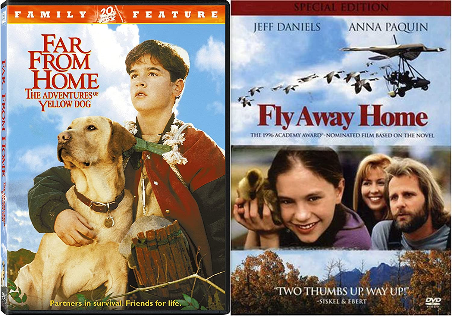 Homeward Bound Animal Adventure Bundle - Far From Home: The Adventures of Yellow Dog & Fly Away Home 2-DVD Collection
