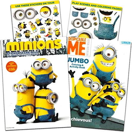 - Amazon.com: Minions Coloring And Activity Book Set With Stickers (2 Books):  Toys & Games
