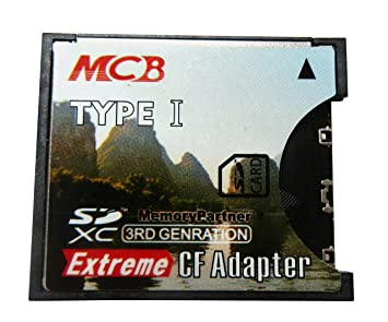 MCB SD SDHC SDXC de alta velocidad a tarjeta CF tipo I ...