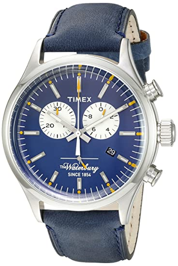 2f15d0ad6264 Timex Men s TW2P75400ZA The Waterbury Chronograph Analog Display Quartz  Blue Watch  Timex  Amazon.ca  Watches