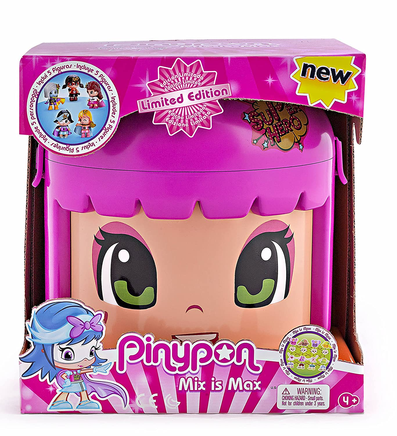 Pinypon Cubo Mix Is Max edición limitada de superhéroes Famosa