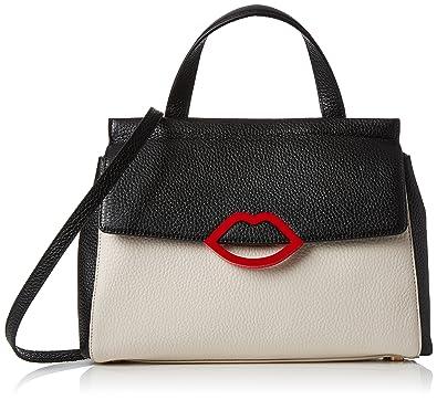 87cddef99a440 Lulu Guinness Women s Gertie Cross-Body Bag Black (Black Porcelain)   Amazon.co.uk  Shoes   Bags