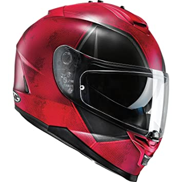 Casco Moto Hjc Marvel Is-17 Deadpool Rojo-Negro (L , Rojo)